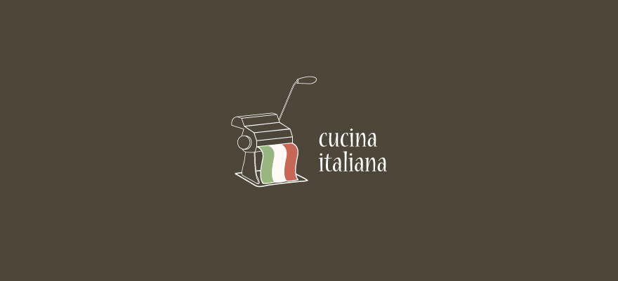 Logo for: Cucina Italiana. Transparent background please.