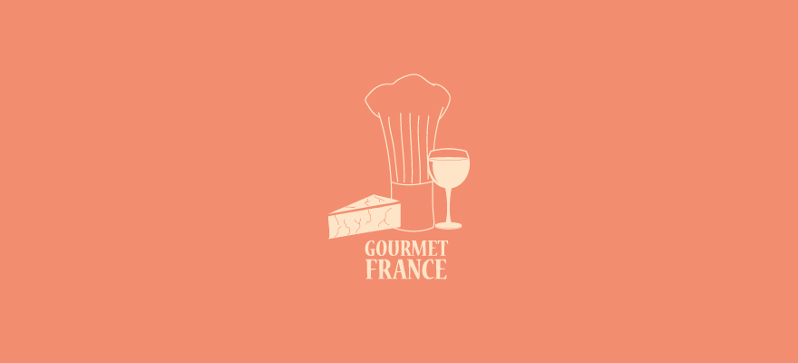 Logo for: Gourmet France. Transparent background please.