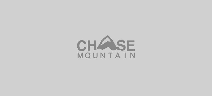 The word CHASE in capital letters with the letter A in the middle drawn to look like a mountain